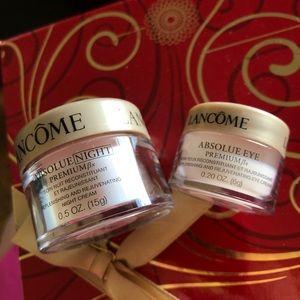 Lancome Absolue face eye cream set x2